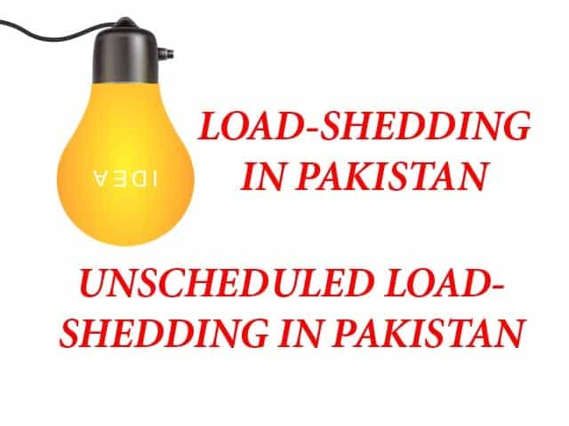 UNSCHEDULED LOAD-SHEDDING IN PAKISTAN