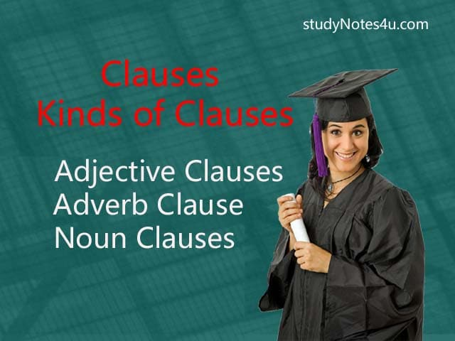 Clauses & Types or Kinds of clauses