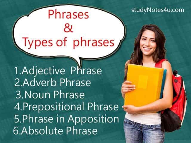 phrase & Types of phrase